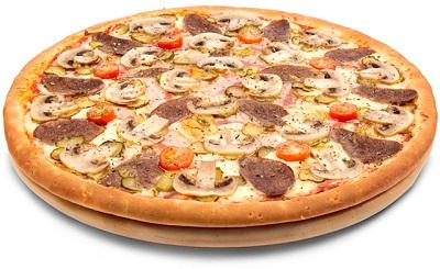 Пицца с языком